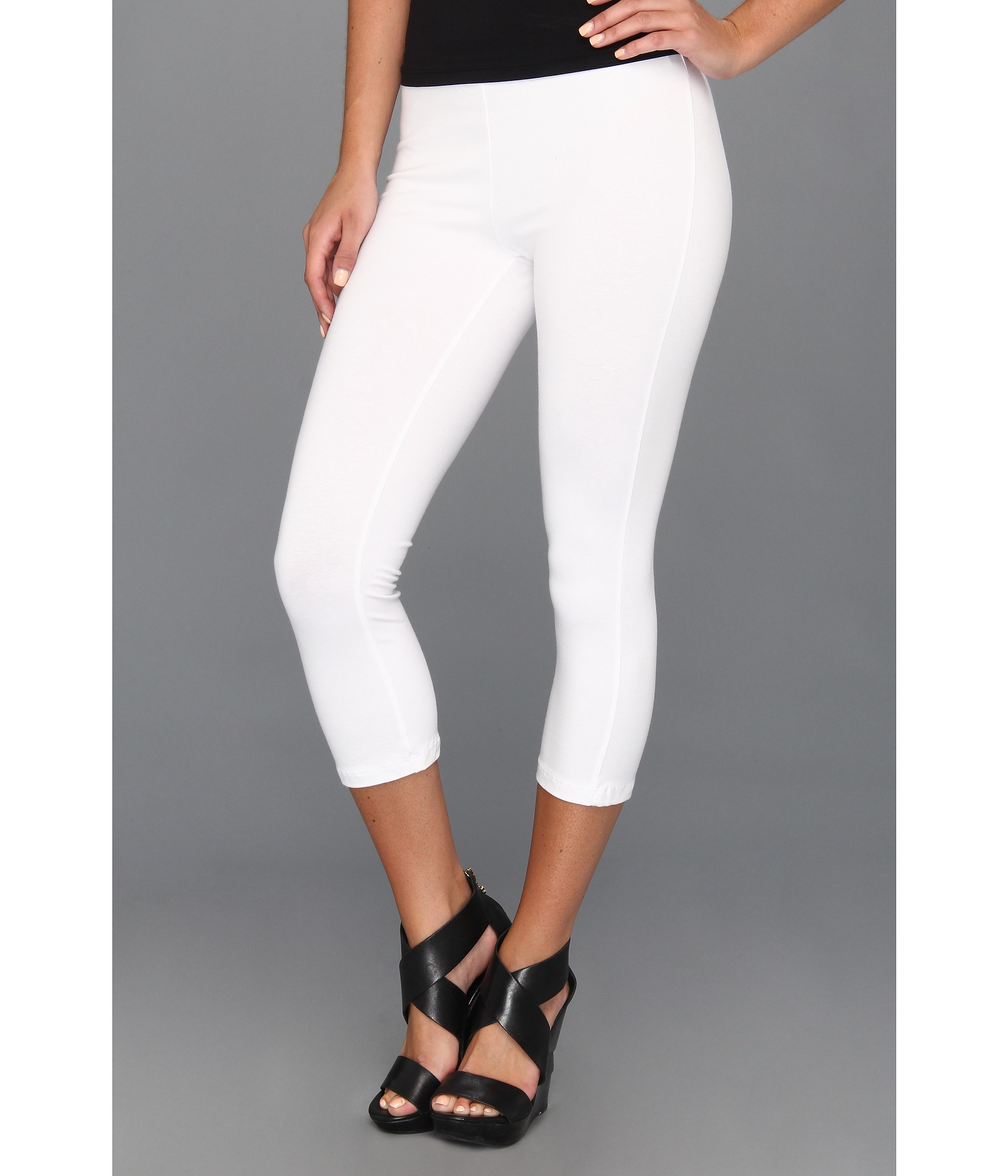 womens white ponte pants photo - 1