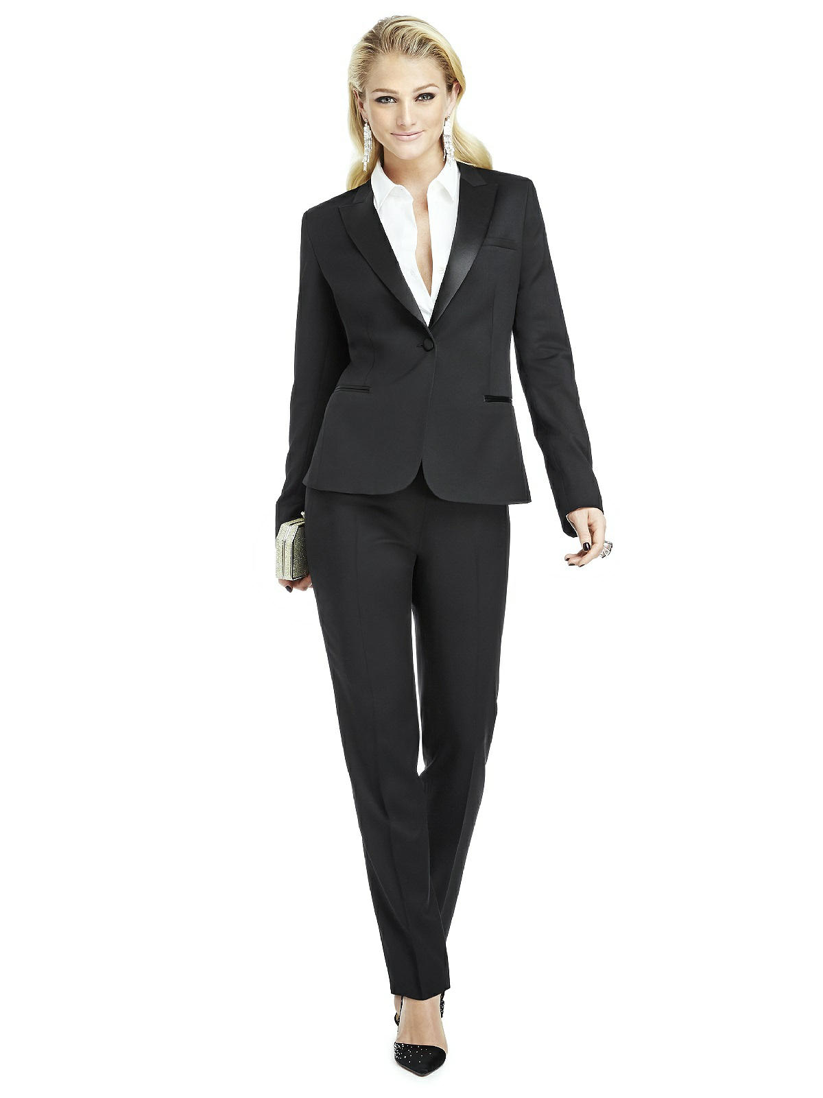 womens white tux pants photo - 1