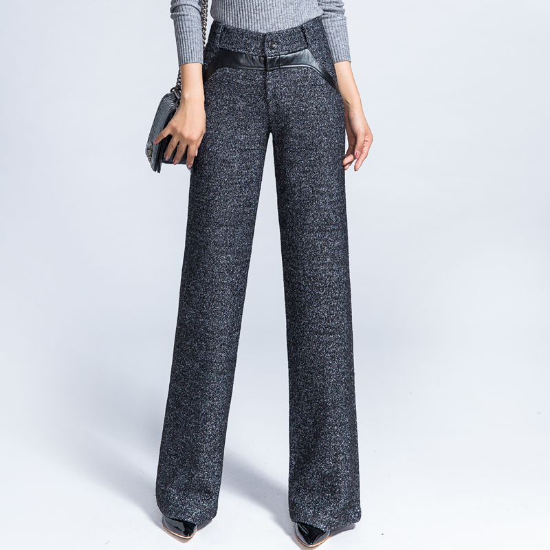womens wool pants photo - 1