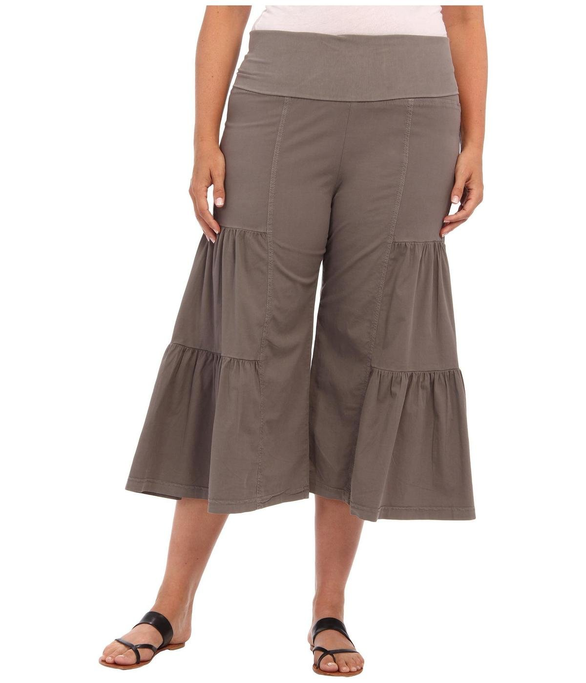 xcvi plus size palazzo pants photo - 1