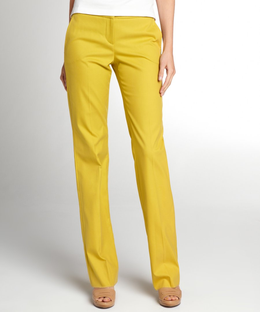 yellow pants womens photo - 1