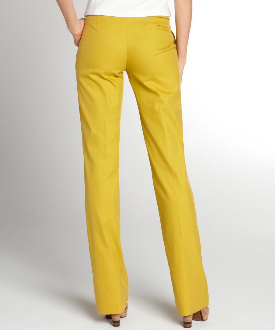 yellow pants womens photo - 2