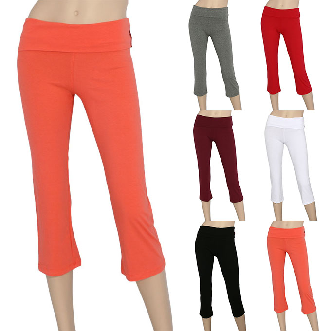 yoga pants 92 cotton 8 spandex photo - 2