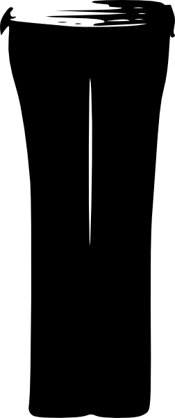 yoga pants clip art photo - 1