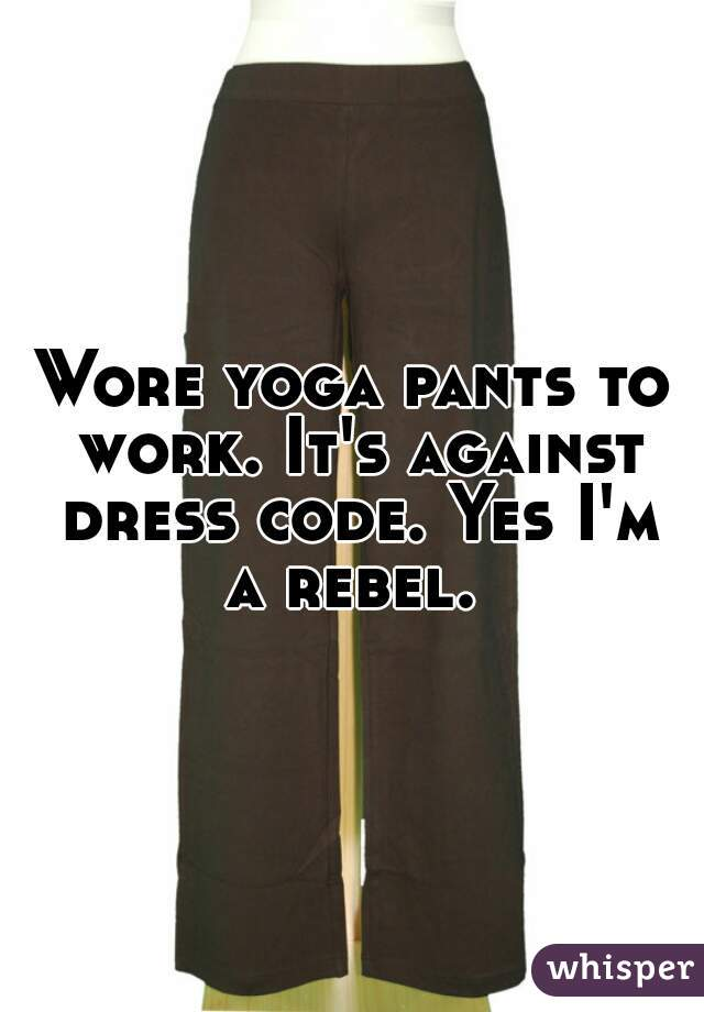 yoga pants dress code photo - 2