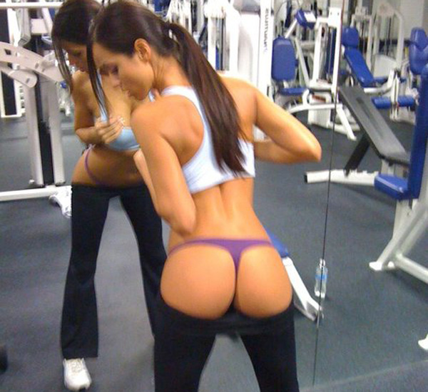 yoga pants in the gym photo - 1